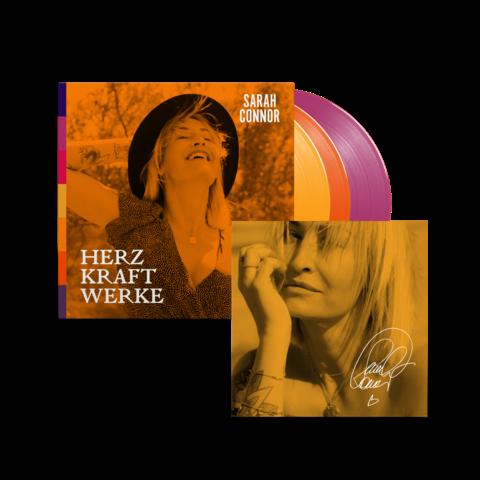 √HERZ KRAFT WERKE (Special Deluxe 3LP Farbig Signiert) von Sarah Connor - 3LP jetzt im Universal Music Shop